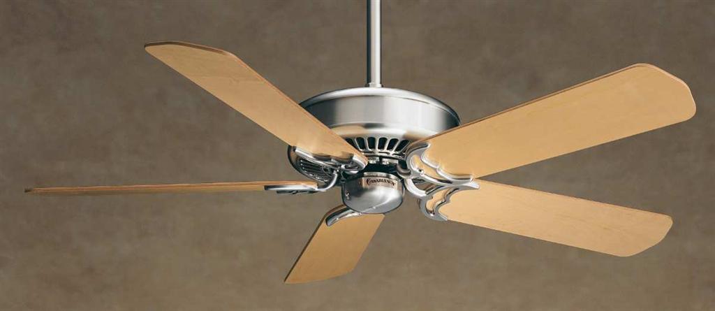 Casablanca 50 remote control ceiling fan panama brushed nickel 5 fan bladesmaple b201 aloadofball Images